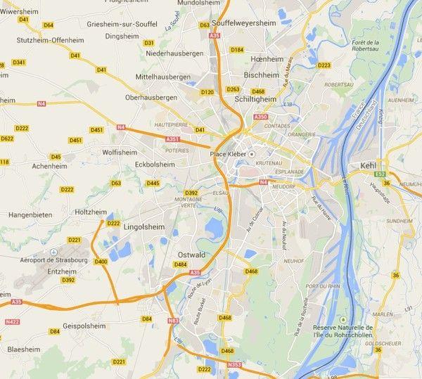 Plus de Strasbourg sur la Carte de France
